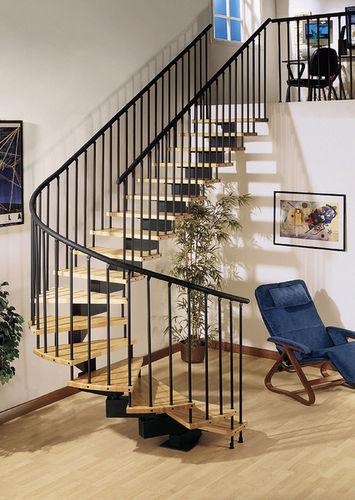 Scala a U / con gradini in legno / struttura in metallo / senza alzata ZIP/PX Grana Enzo & C.Snc
