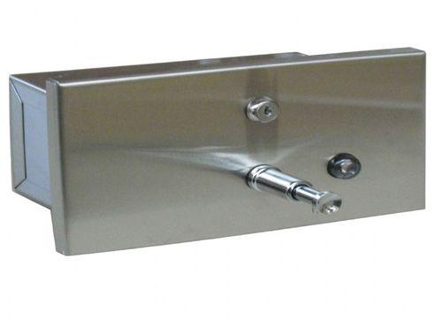 distributore di sapone contract / da incasso / in acciaio inossidabile / manuale