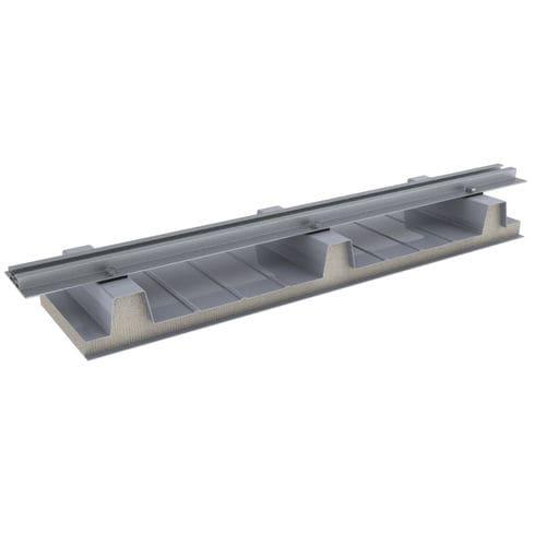 sistema di montaggio per tetto inclinato / per tetti in lamiera ondulata / su tetto / per applicazioni fotovoltaiche