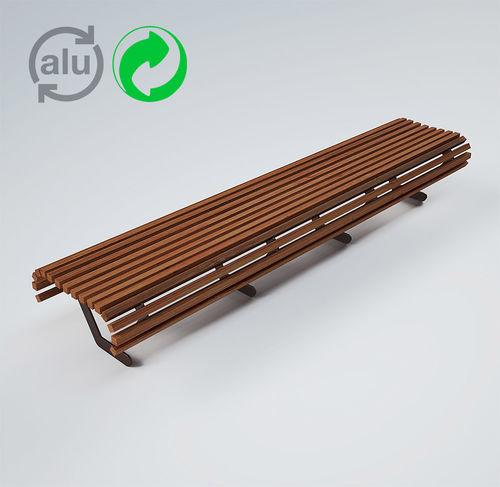 panca pubblica / moderna / in alluminio / in metallo verniciato