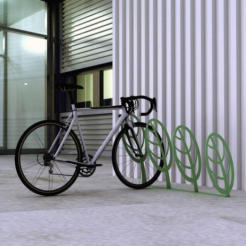 rastrelliera per biciclette in metallo / per parco giochi / per spazi pubblici / design originale