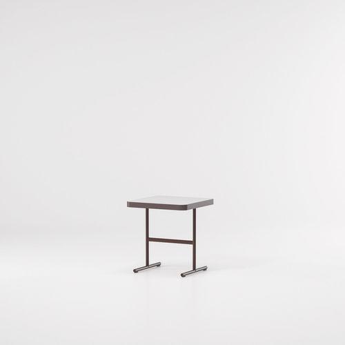 tavolo d'appoggio moderno / in teak / in alluminio / rettangolare