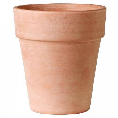 vaso da giardino in terracotta / tondo / conico