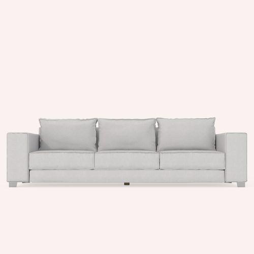 divano moderno / in tessuto / 3 posti / marrone