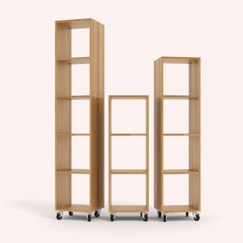 scaffale a rotelle / moderno / in legno