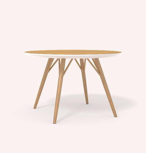 tavolo da pranzo moderno / in quercia / tondo
