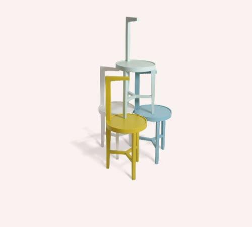 tavolo d'appoggio moderno / in legno / tondo