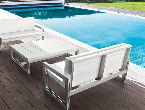 divano moderno / da giardino / in metallo / 2 posti
