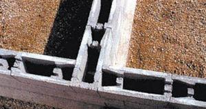 blocco cassero in calcestruzzo / per muro