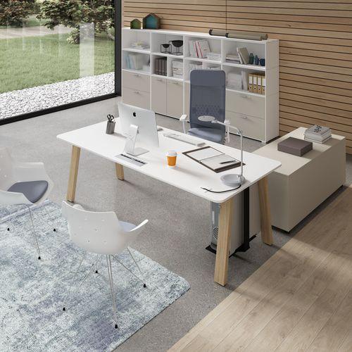 Scrivania per open space / in melamminico / moderna / professionale TAKE OFF Bralco