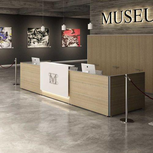 banco reception modulare / impiallacciato in legno / in melamminico