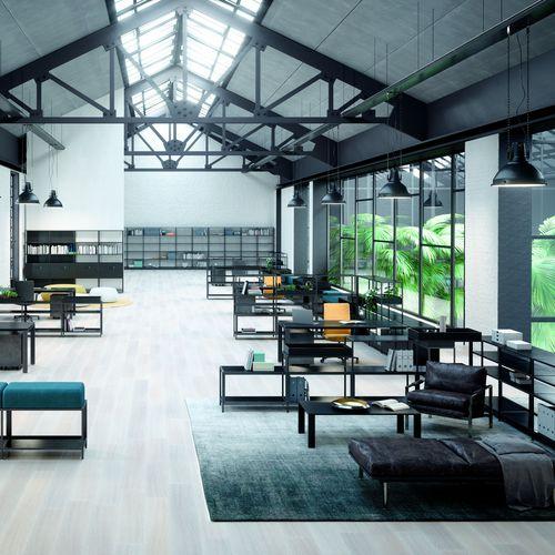 scaffale modulare / moderno / in metallo / per ufficio
