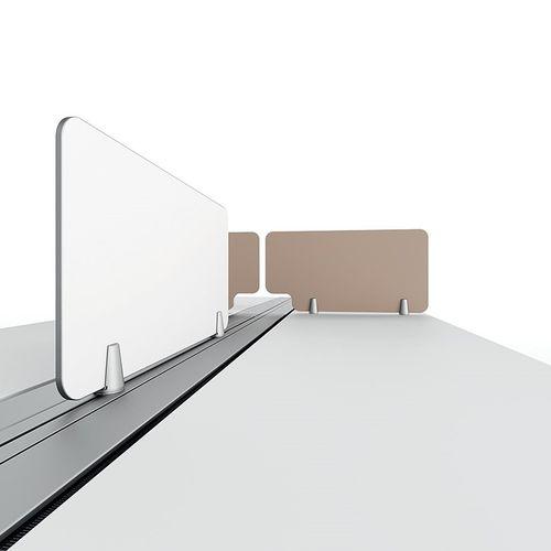 divisorio per ufficio da bancone / in laminato / modulare