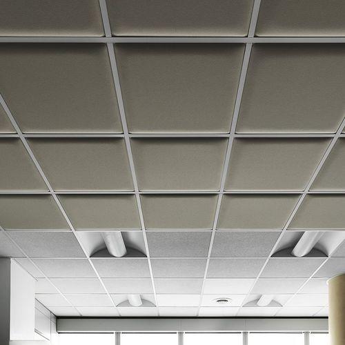 pannello acustico per soffitto / per controsoffitto / in tessuto / colorato
