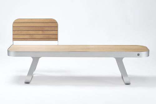 Panca pubblica / moderna / in legno / in metallo EPURE Tolerie Forezienne