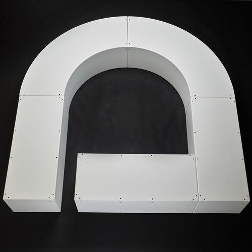 Panca pubblica / moderna / in plastica / modulare LE MODULAIRE Tolerie Forezienne