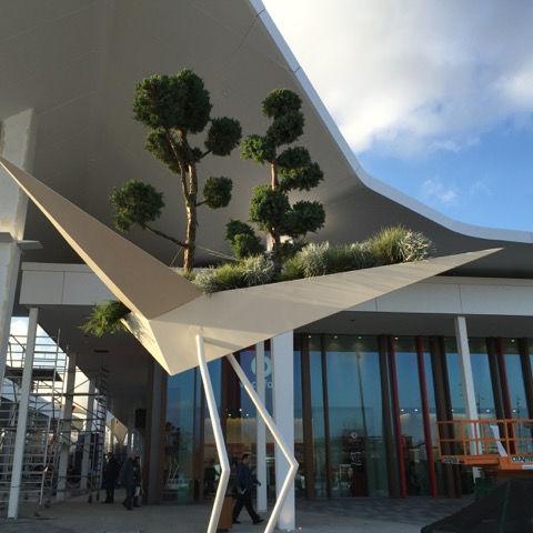 Fioriera in metallo / design originale / per spazi pubblici ALBATROS Tolerie Forezienne