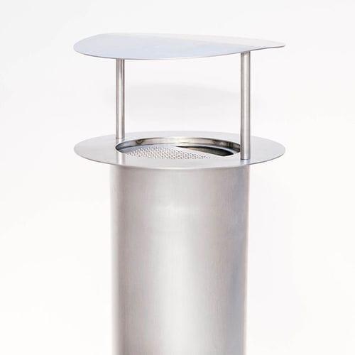Portacenere da terra / in acciaio inossidabile / per esterni / per spazio pubblico TEMPETE Tolerie Forezienne