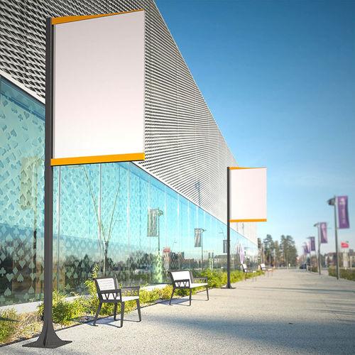 Cartello pubblicitario da parete / da esterno / in acciaio CINEMASCOPE Tolerie Forezienne