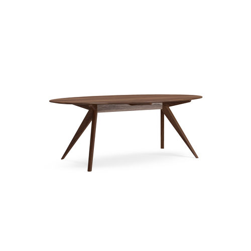 tavolo da pranzo moderno / in quercia naturale / in noce americano / rettangolare