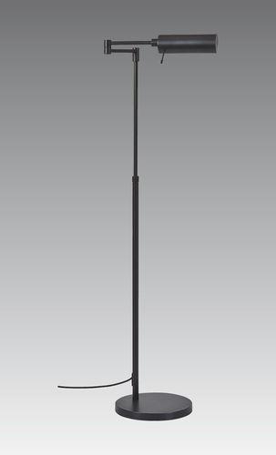 lampada da terra / moderna / in metallo cromato / in bronzo