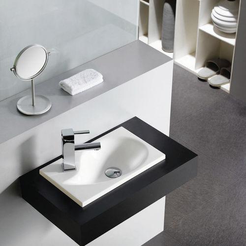 lavabo da incasso / in resina / moderno