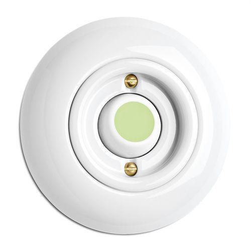 interruttore a bascula / in porcellana / classico / bianco