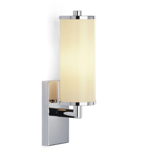 applique moderna / in metallo / in vetro opalescente / IP20
