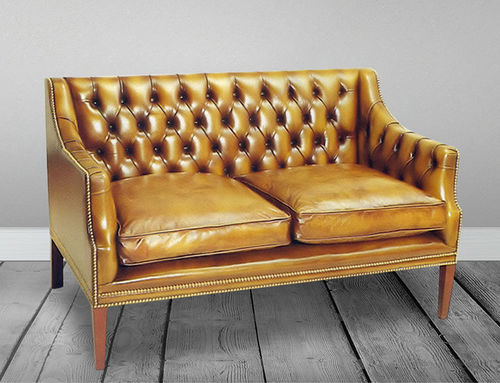 divano classico / in pelle / 2 posti / 3 posti