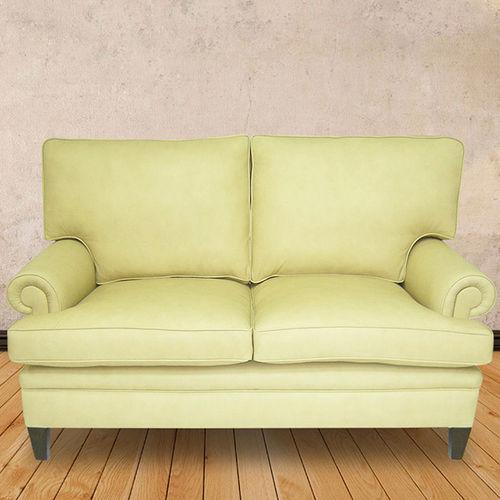divano classico / in pelle / 2 posti