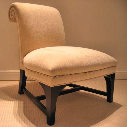 chauffeuse moderna / in tessuto / in legno / per uso contract