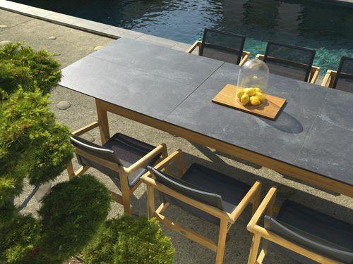tavolo moderno / in legno / in teak / in HPL