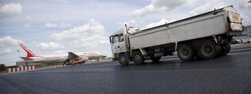 pavimento in asfalto / per strada / testurizzato / aspetto pietra
