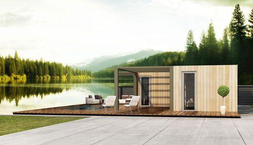 casa prefabbricata / modulare / rimorchiabile / moderna