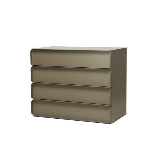 Cassettone moderno / in MDF laccato / in alluminio / di Studio Nendo COLLAR   Quodes