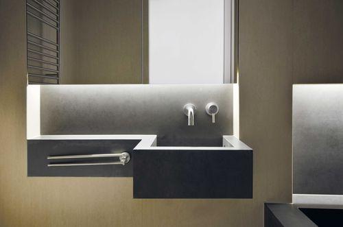 Piano lavabo in ceramica / per uso professionale by Daniele Petteno Architecture Workshop LAMINAM