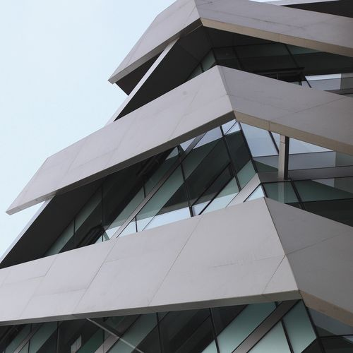 Rivestimento di facciata in ceramica / testurizzato / aspetto metallo / per facciata ventilata FILO: ARGENTO LAMINAM