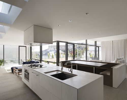 Pannello decorativo per arredamento di interni / per cucina / in ceramica / a effetto dimensionale OXIDE: BIANCO LAMINAM