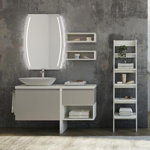 mobile lavabo sospeso / in legno / in ceramica / in vetro
