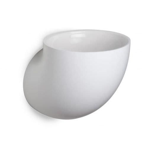 lavabo sospeso / tondo / in poliuretano / moderno