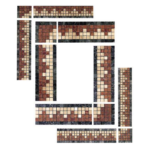 fregio in mosaico / in marmo / a muro / a pavimento
