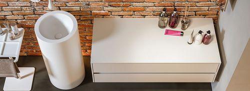 mobile da bagno moderno / in legno / da parete