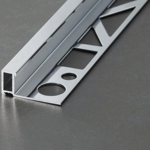 profilo di finitura in alluminio / per piastrelle / per angolo esterno / per parete
