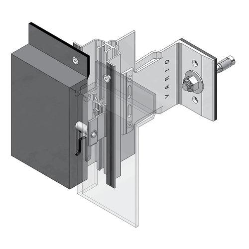 sistema di fissaggio metallo / per facciata ventilata