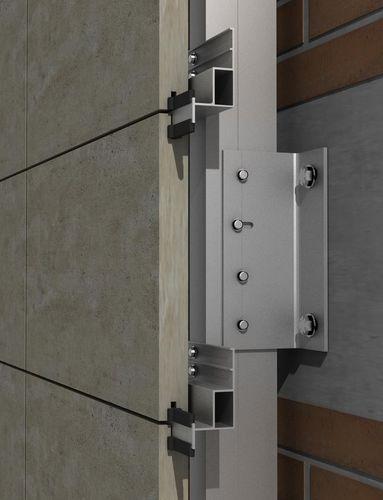Sistema di fissaggio alluminio / per rivestimento di facciata / per facciata ventilata / per esterni PF-ALU/HPL-40 / 60 / 120 SISTEMA MASA SL