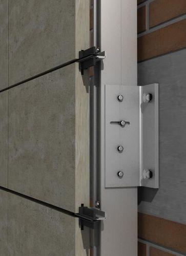 Sistema di fissaggio alluminio / per rivestimento di facciata / per facciata ventilata / per esterni PF-ALU-PL  SISTEMA MASA SL
