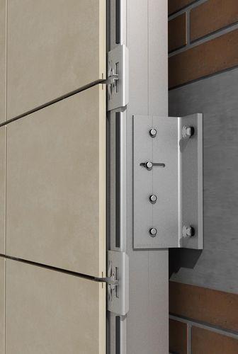 sistema di ancoraggio in metallo / per facciata ventilata / per rivestimento di facciata / per esterni