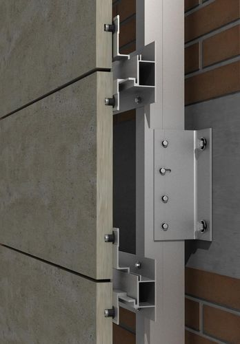 Sistema di fissaggio in acciaio inox / alluminio / per rivestimento di facciata / per facciata ventilata PF-ALU-HTR SISTEMA MASA SL