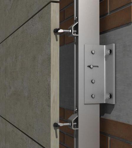 Sistema di fissaggio in acciaio inox / per rivestimento di facciata / per facciata ventilata / per esterni PF-ALU-CLA SISTEMA MASA SL