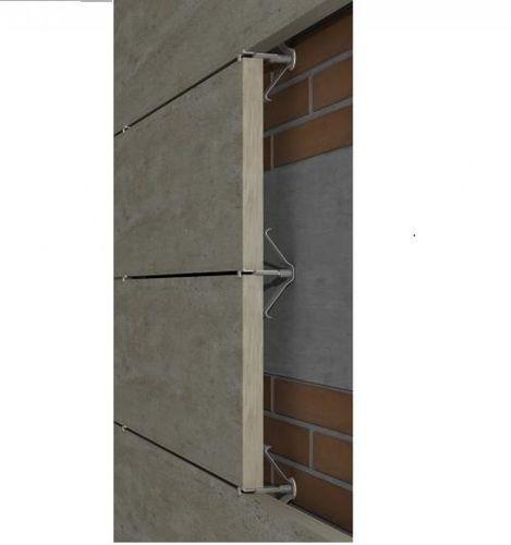 sistema di fissaggio metallo / in acciaio inox / per facciata ventilata / per rivestimento di facciata